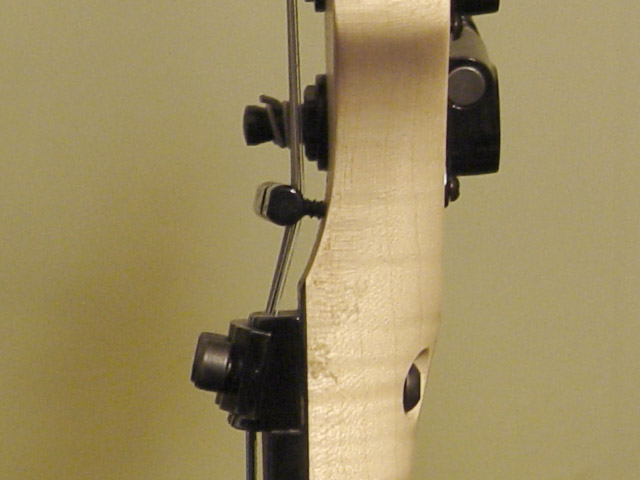 string bar positioning, side-view