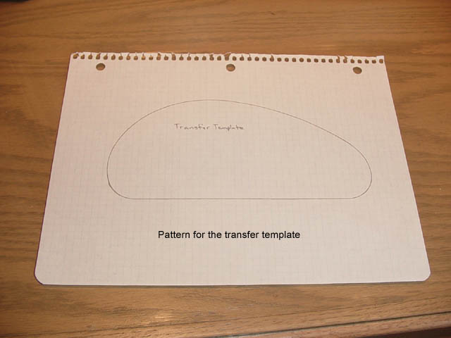 making the transfer template